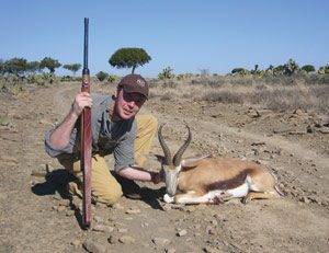 Marcus with one of his Springbok taken on Alvin's property